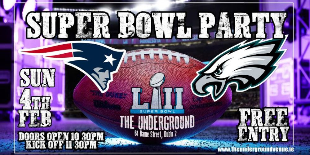 Dublin pubs showing the Superbowl 2018