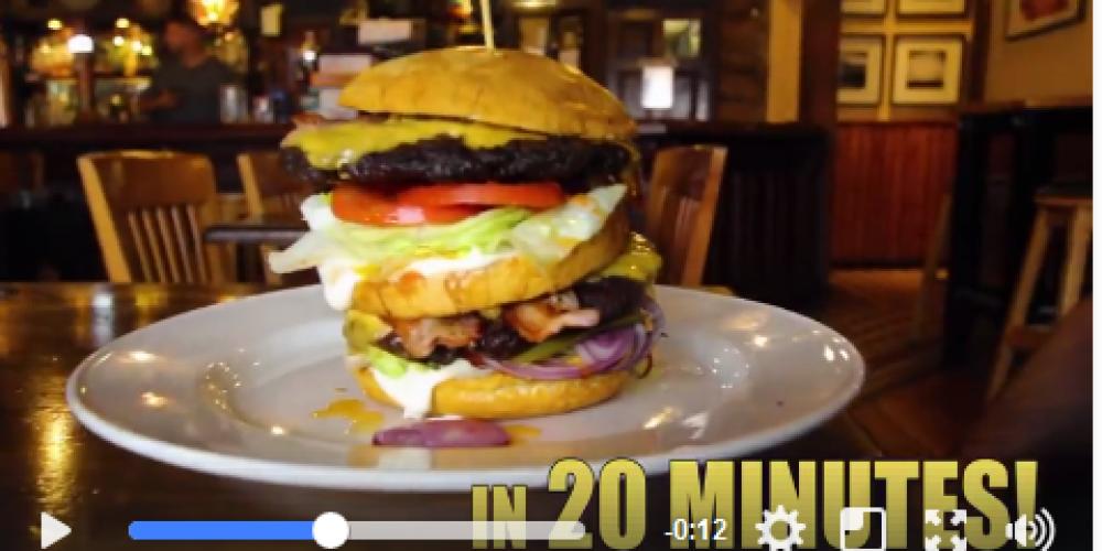 Pifko bar have a Man Vs Food style burger challenge.