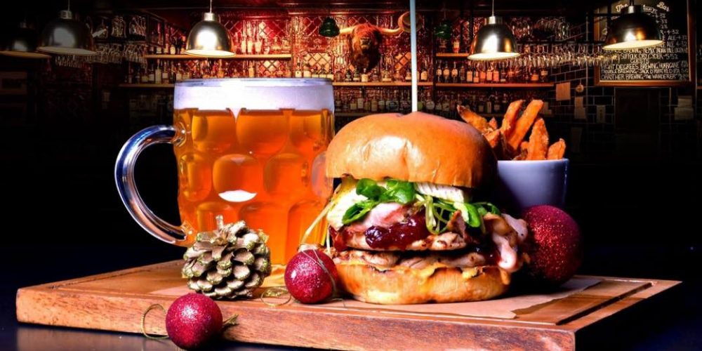 Try the festive Turkey Burger in Bull and Castle