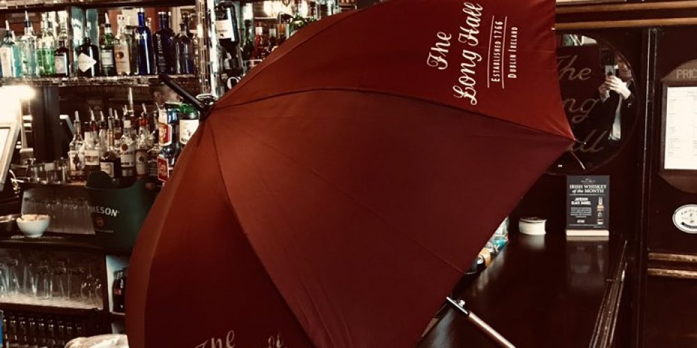 The Long Hall have fantastic new umbrellas and they're giving away 50 of them.