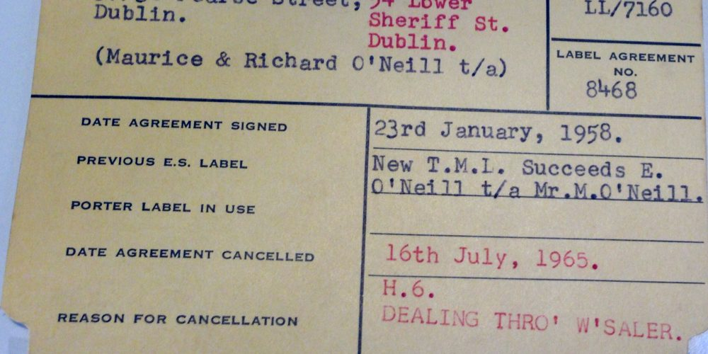 Pubs and Porter: 60 year old records from the Guinness Archive