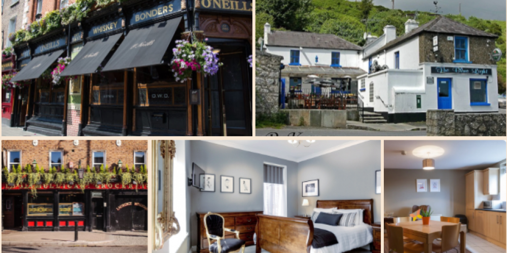 Have ye no homes to go to? 5 places where you can stay in or above a pub on a trip to Dublin.