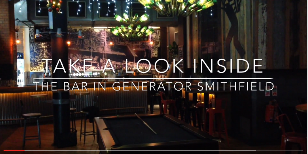 Video: A quick look at Generator bar Smithfield.