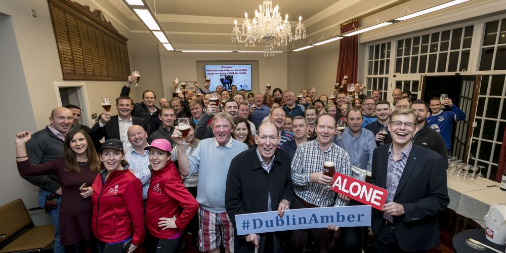 'You'll never walk ALONE'. Dublin publicans raise €25,000 for ALONE and are on their way to €200,000