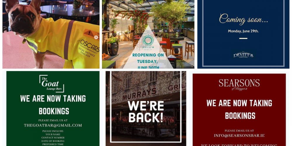 They're Back! Dublin Pubs Opening on 29th June.