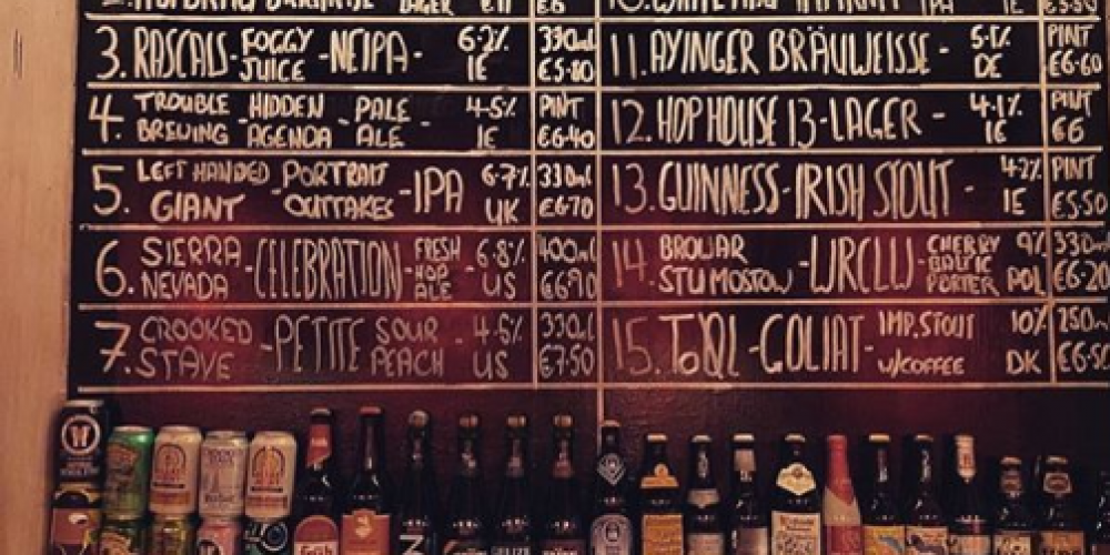 5 pubs with a great and ever changing beer selection.