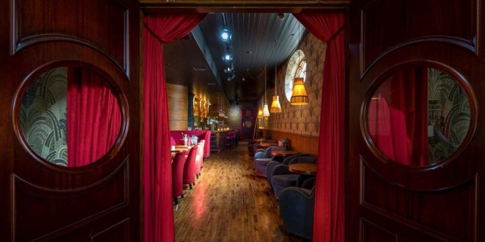An elegant place for a party: The Bourbon Bar in The Odeon