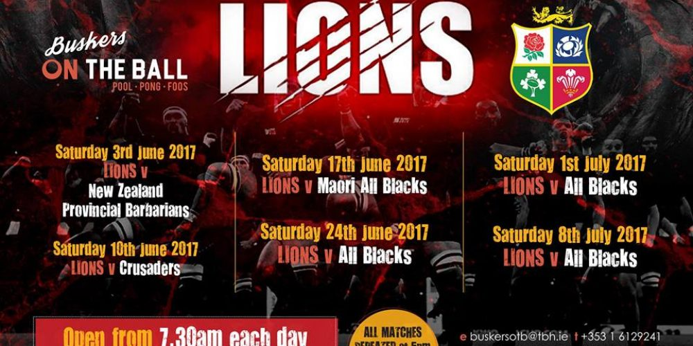 Here's where you can watch the Lions versus NZ Provincial Barbarians.